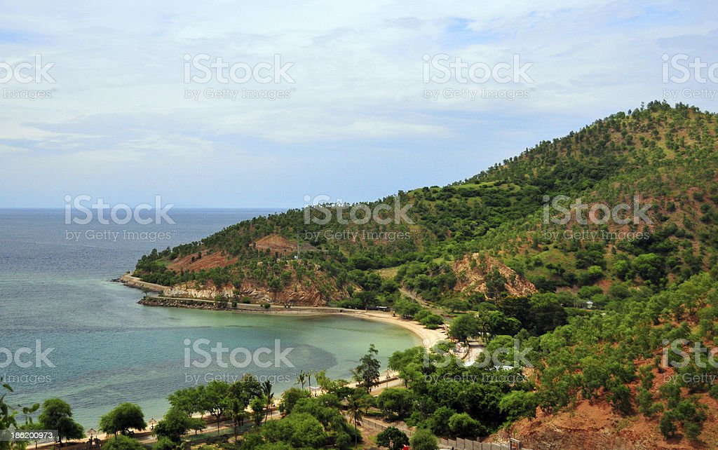 Dili, East Timor: Areia Branca beach stock photo