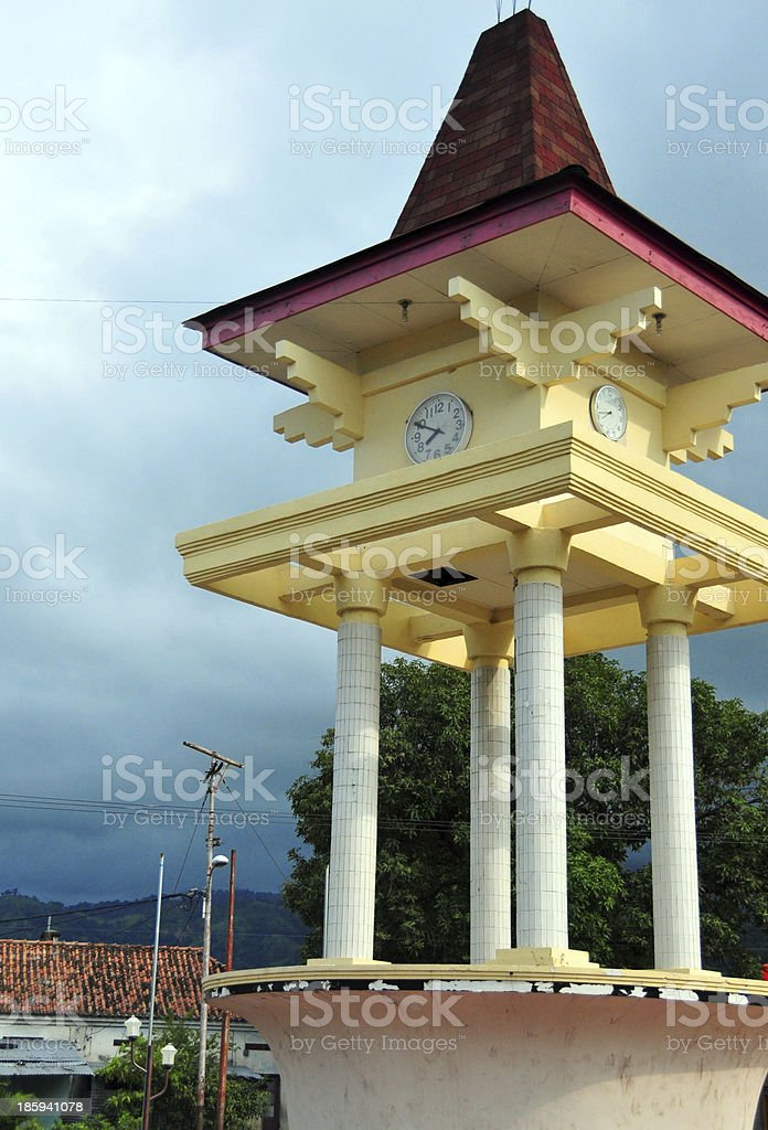 Dili, East Timor: clock tower royalty-free stock photo