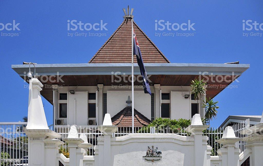 Dili, East Timor: the Australian Embassy stock photo