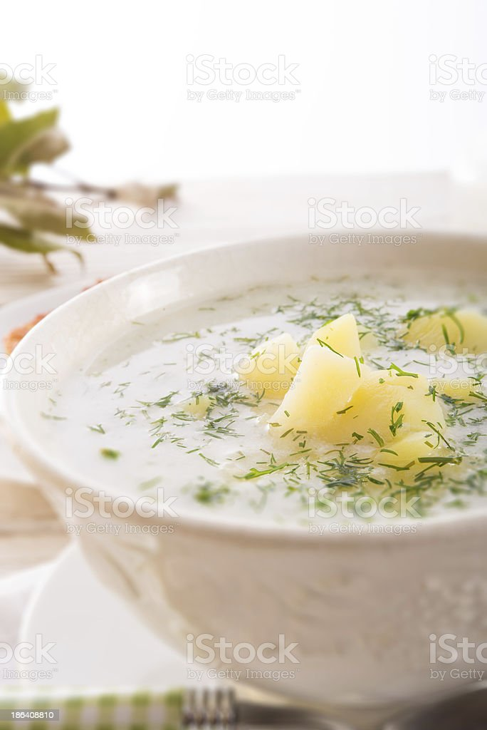 Dill soup royalty-free stock photo