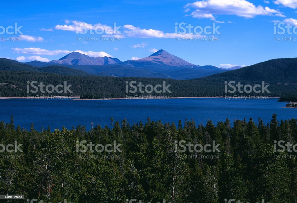 Dillon Lake, CO stock photo