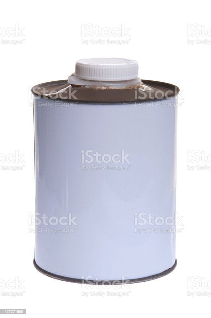 Diluent can stock photo