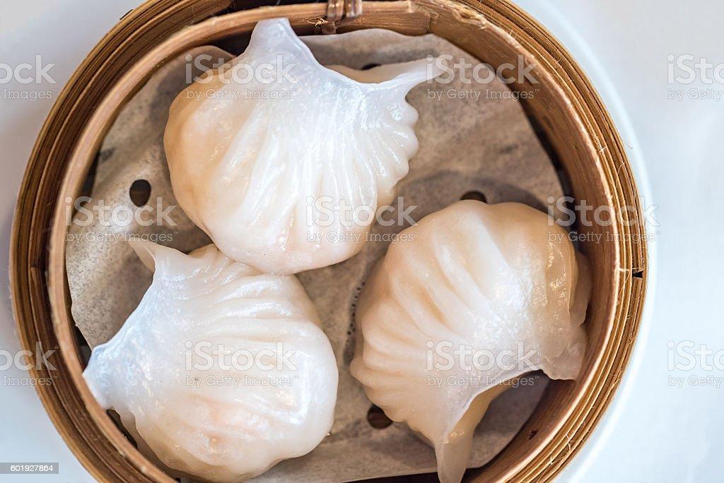 dim sum Hagao stock photo