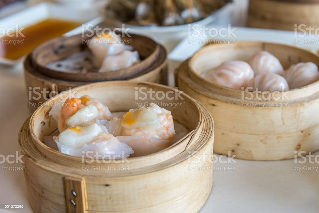 Dim Sum - traditional Chinese breakfast stock photo