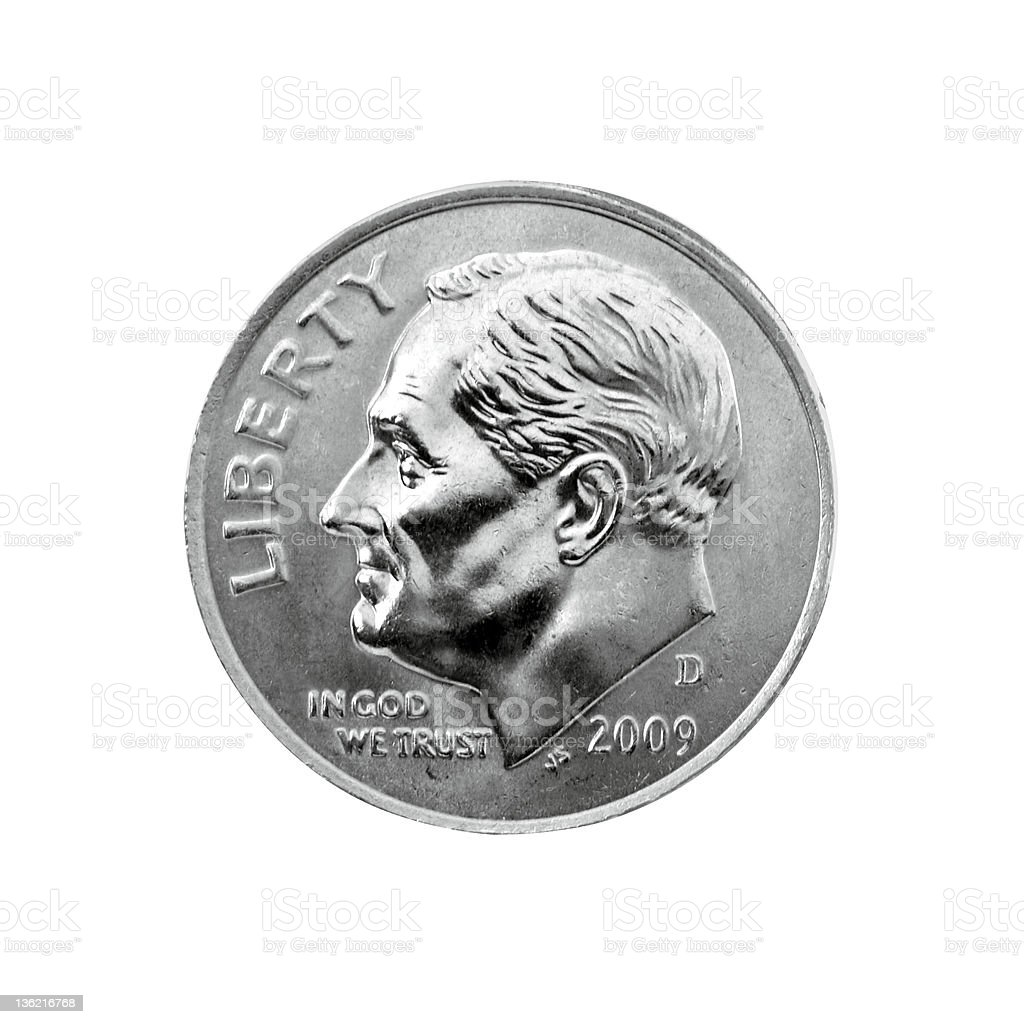 US Dime stock photo