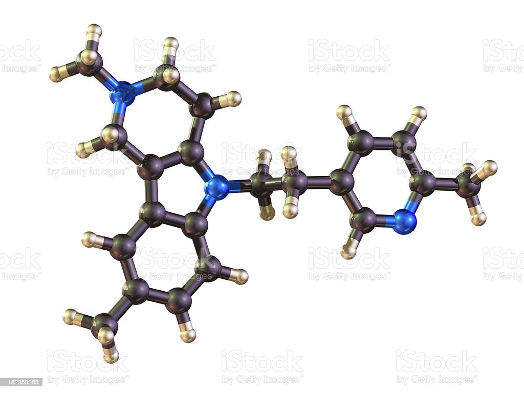 Dimebon Molecule stock photo