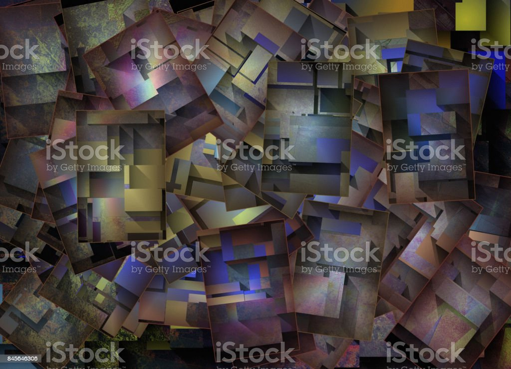 DImensional Colorful Abstract stock photo