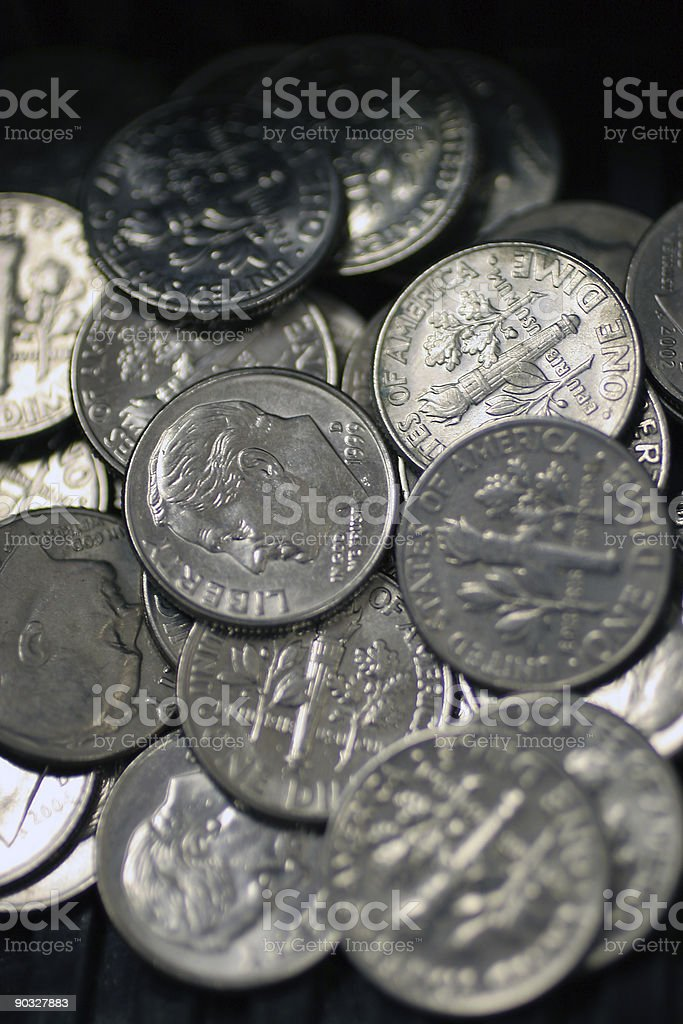 Dimes royalty-free stock photo