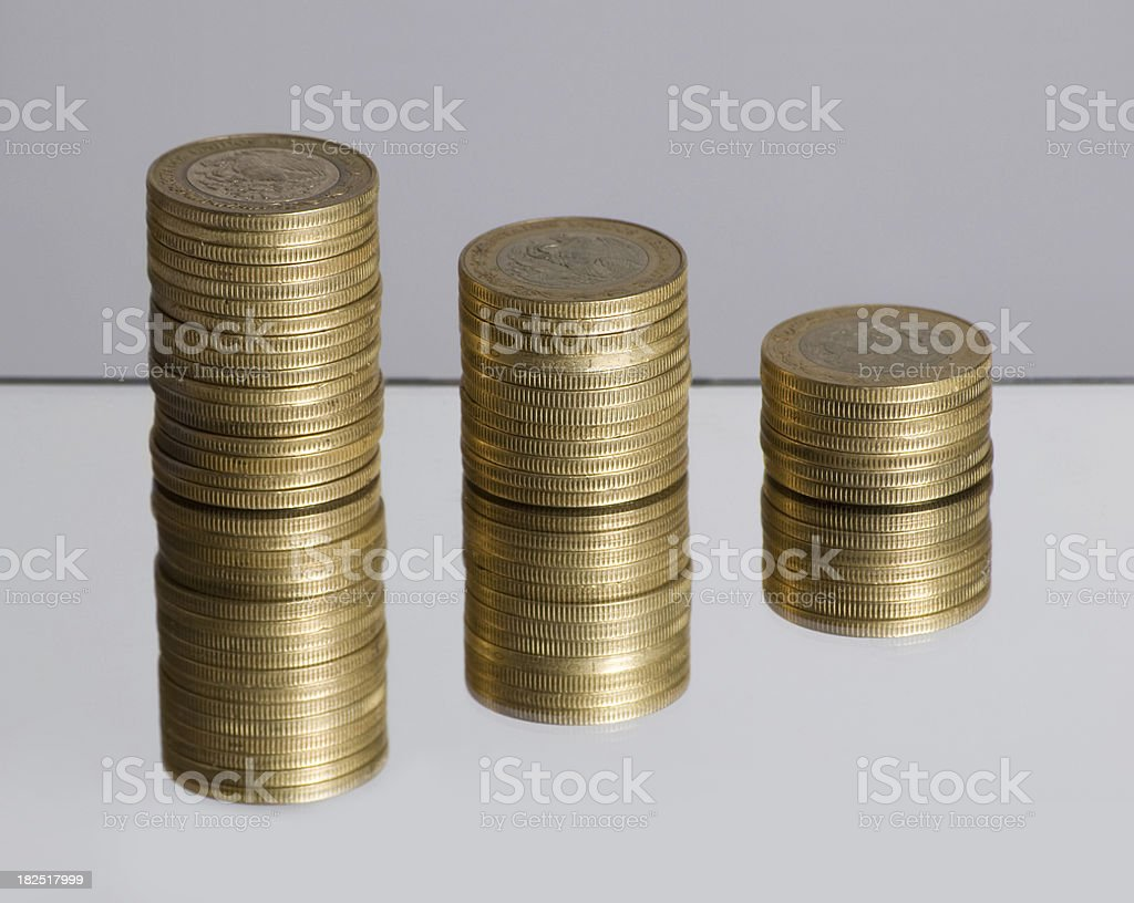 Diminishing Mexican Currency stock photo