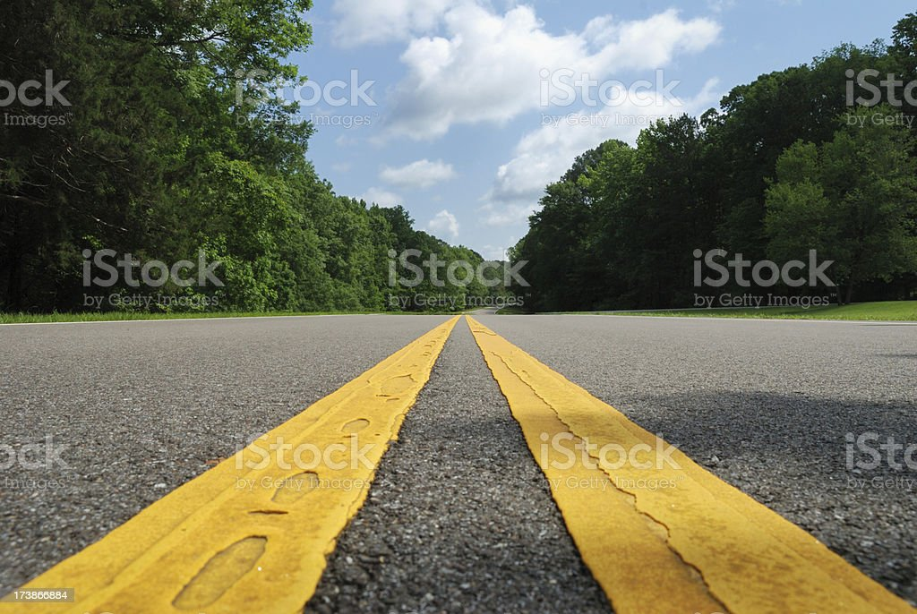 Diminishing road lines royalty-free stock photo