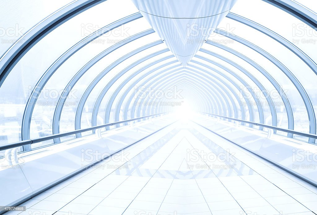 diminishing transparent hallway royalty-free stock photo