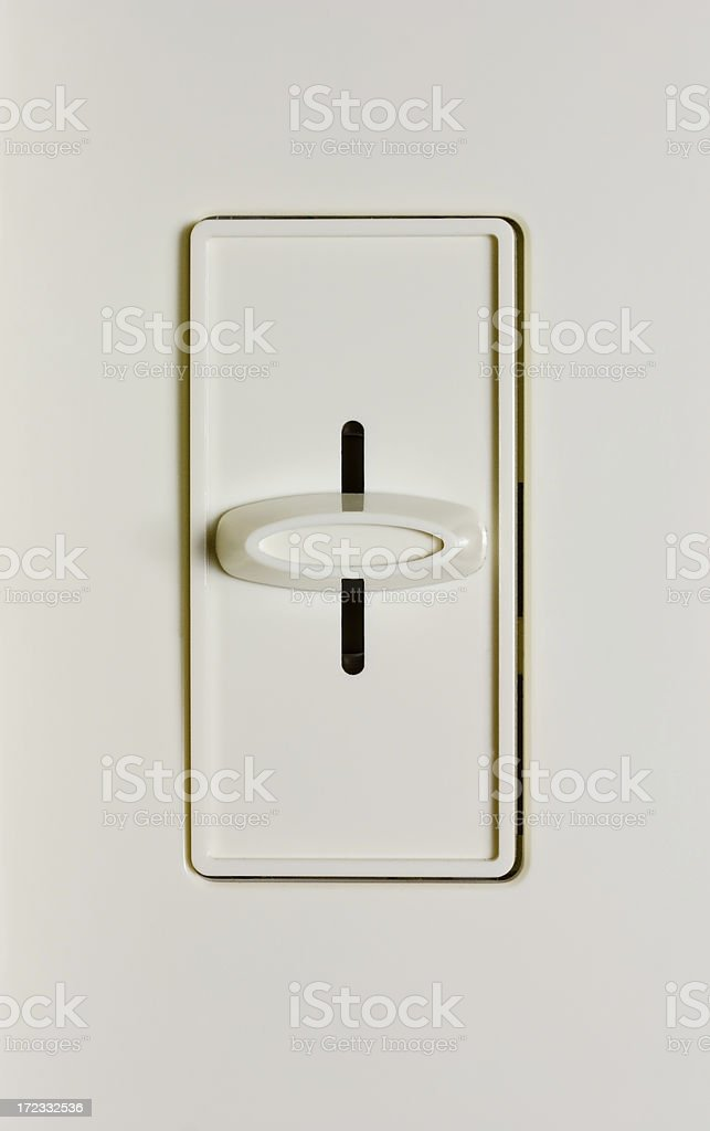 Dimmer Switch Halfway royalty-free stock photo