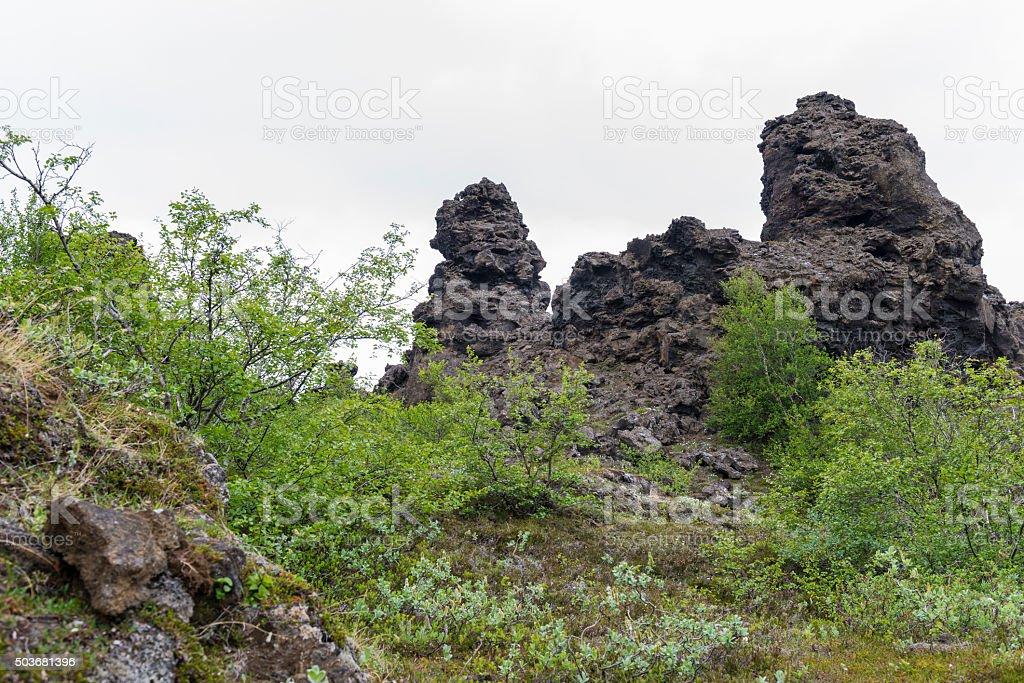 Dimmuborgir - Iceland stock photo