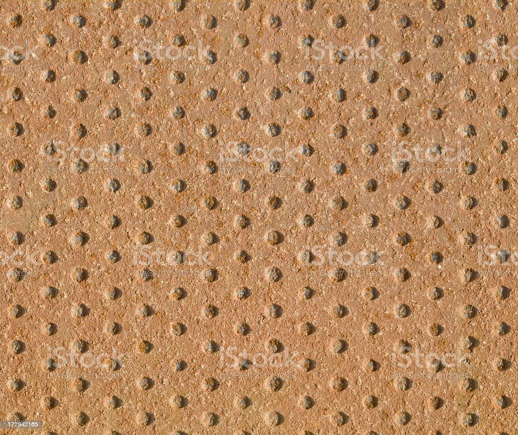 Dimpled iron plate / seamless image royalty-free stock photo