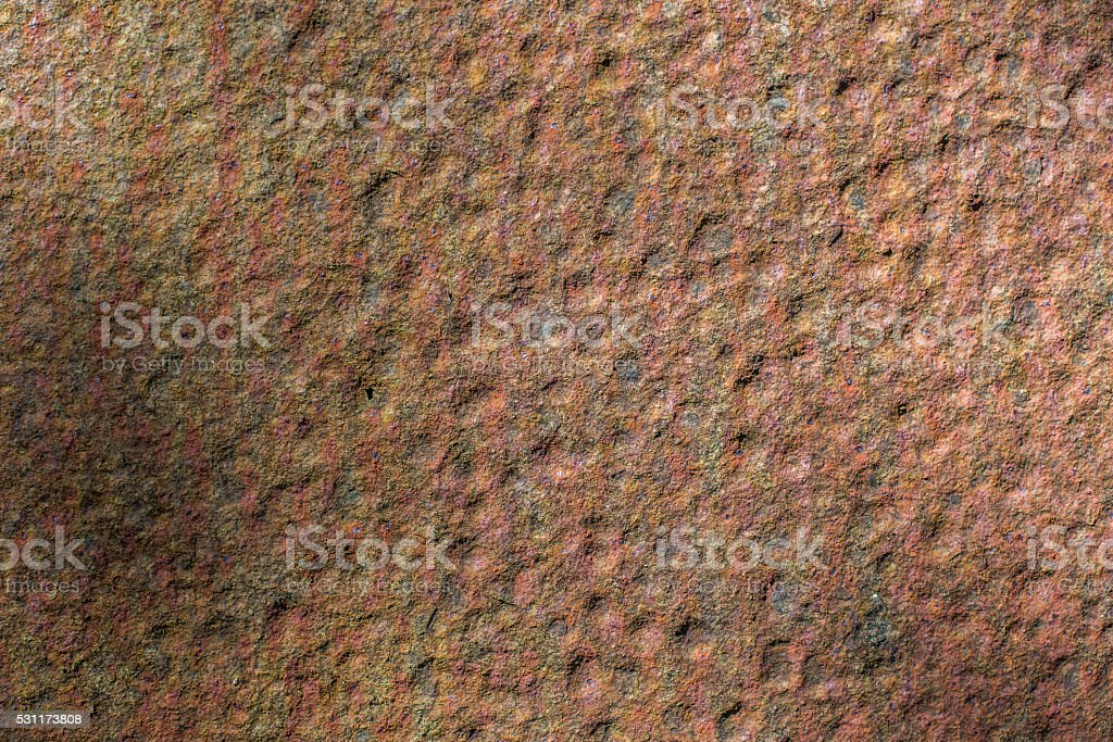 dimpled rusted metal sheet stock photo