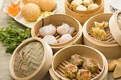 dimsum mix with hagao shumai sesamballs and more