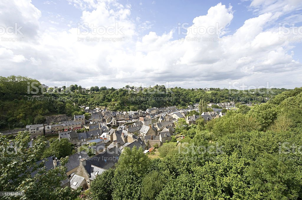 Dinan (Brittany, France) - Panoramic view royalty-free stock photo