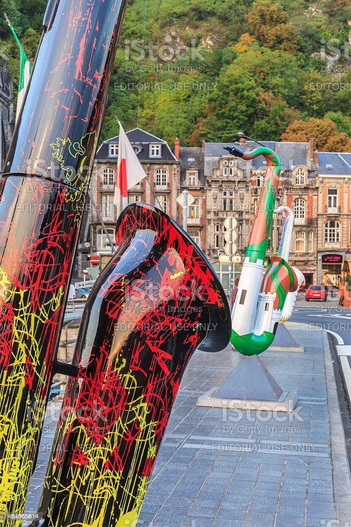 Dinant - Art on Sax, Belgium stock photo