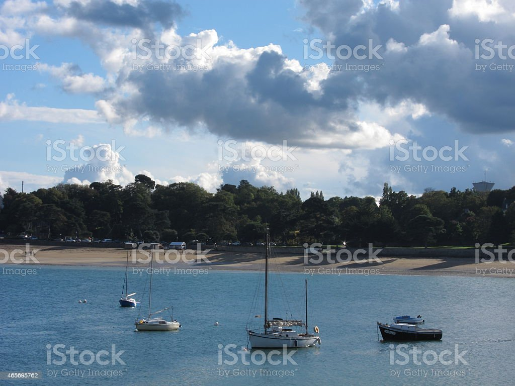 Dinard in Brittany stock photo