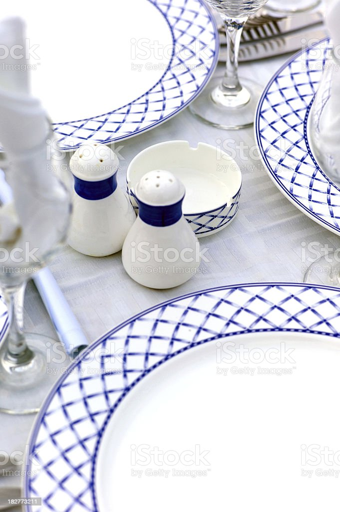 Diner by the Pool royalty-free stock photo