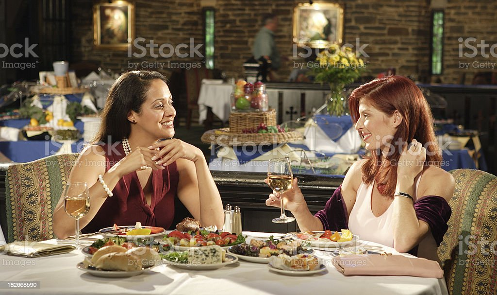 Diner conversation royalty-free stock photo