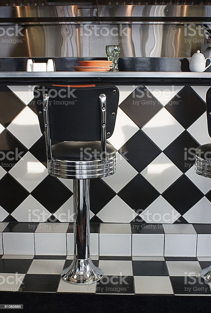 diner counter royalty-free stock photo