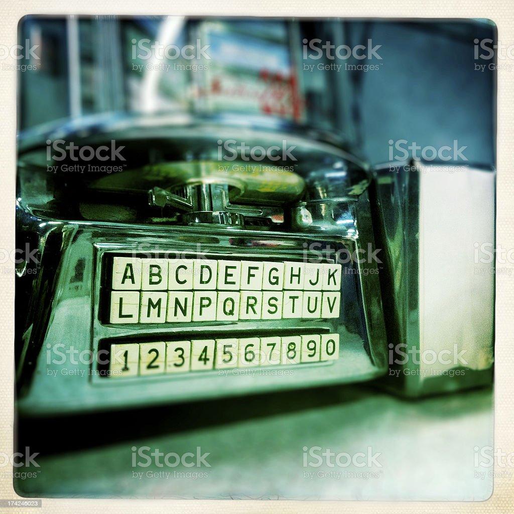 diner jukebox royalty-free stock photo