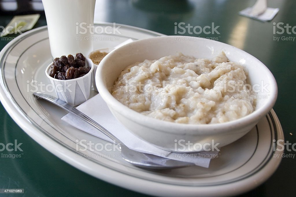 Diner: Oatmeal stock photo