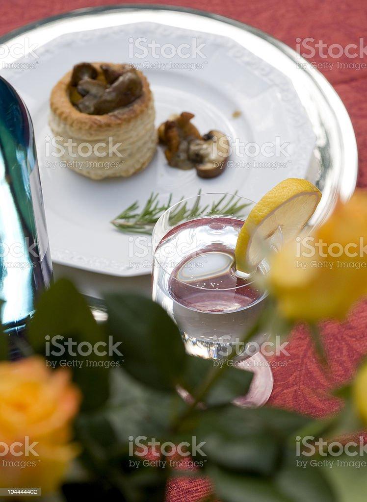 Diner coperto. foto stock royalty-free