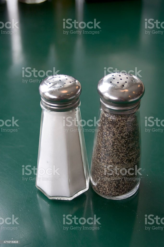 Diner: Salt and Pepper Shakers royalty-free stock photo