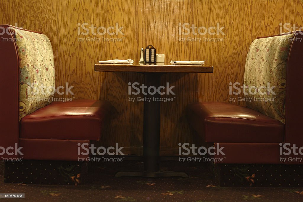 Diner table stock photo