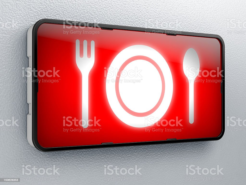 Diner time stock photo