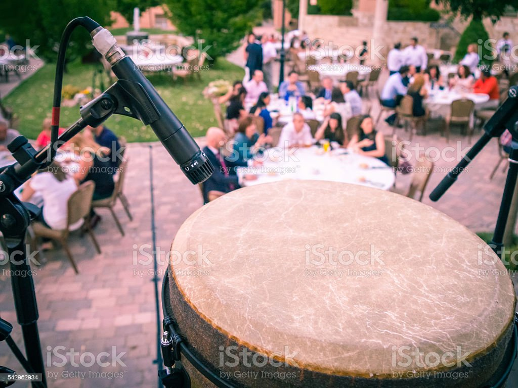 diners from timpani on the stage stock photo
