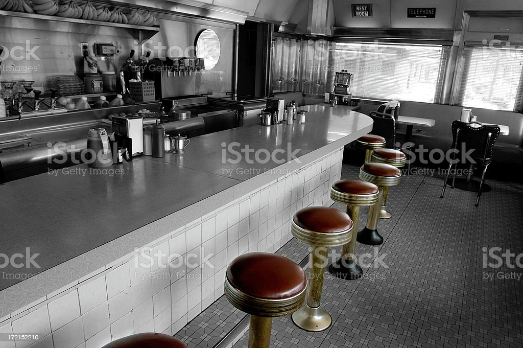diner-stools go round royalty-free stock photo