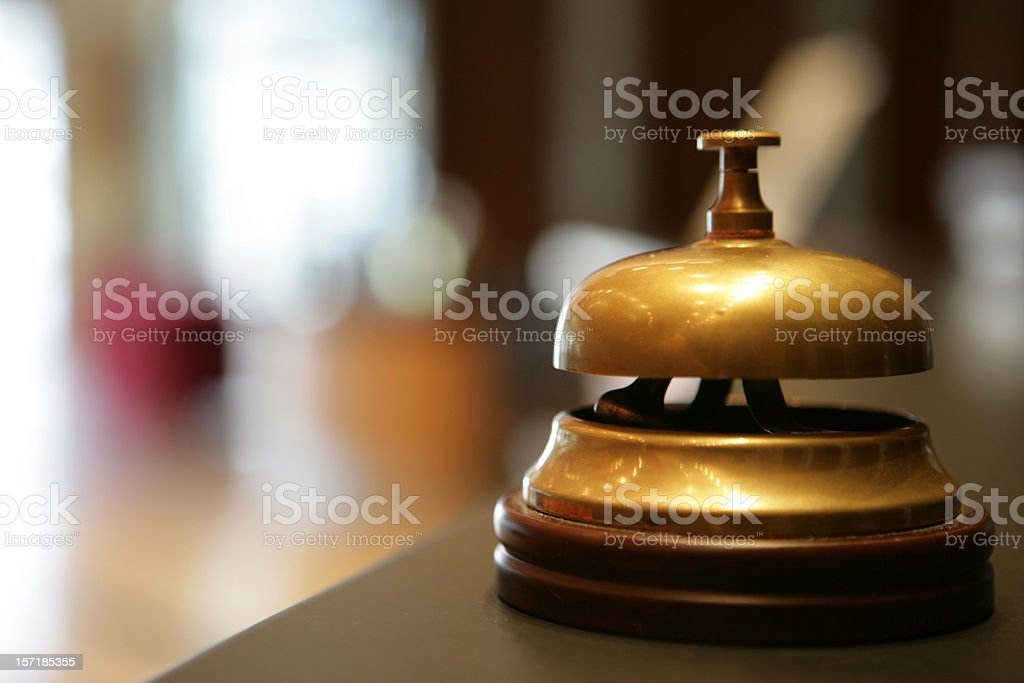 Ding! hotel service stock photo