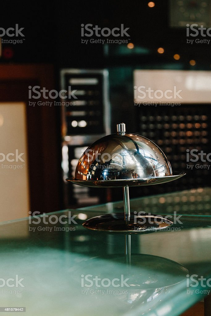 Ding! Hotel service please stock photo