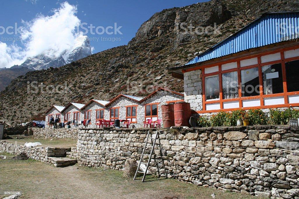 Dingboche Lodge - Nepal royalty-free stock photo