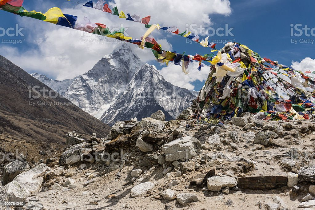 Dingboche to Lobuche, Nepal stock photo