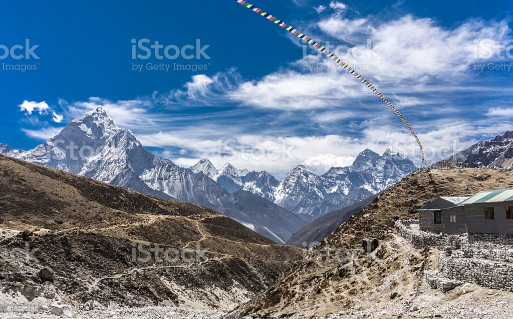 Dingboche to Lobuche, Nepal stock photo