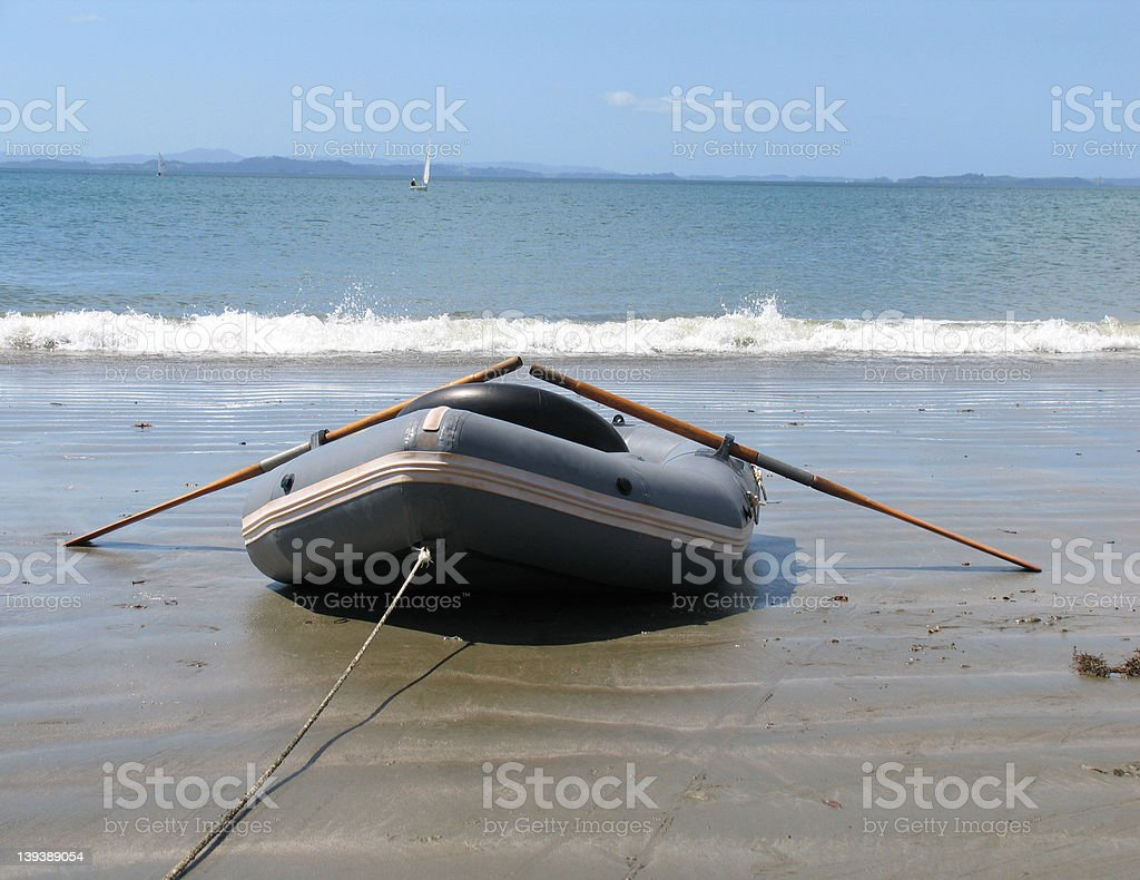 Dinghy on the Beach royalty-free stock photo