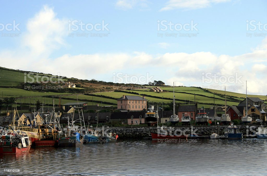Dingle Town Harbor stock photo