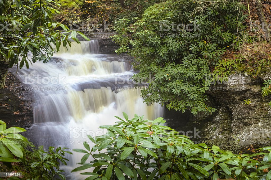 Dingman Falls in the Autumn stock photo