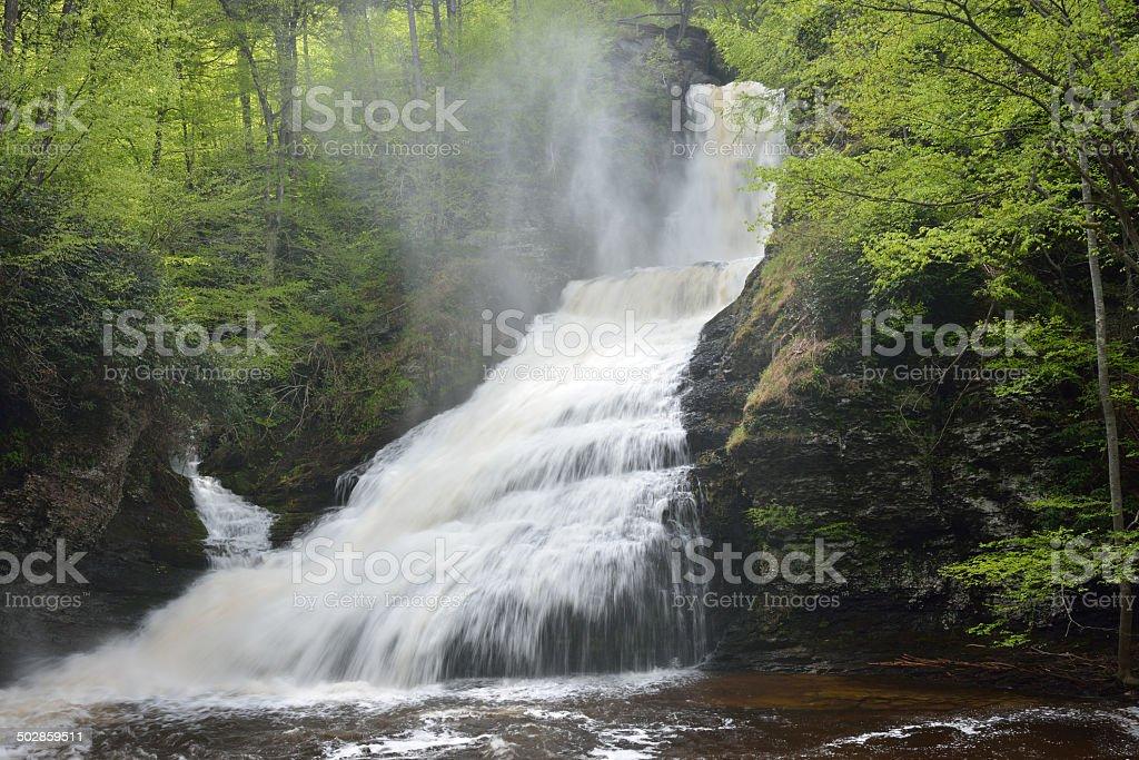 Dingmans Falls at Delaware Water Gap NRA stock photo