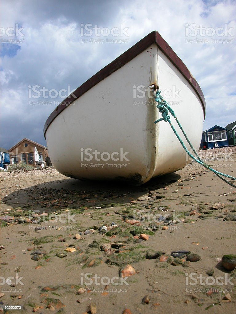 Dingy beached royalty-free stock photo