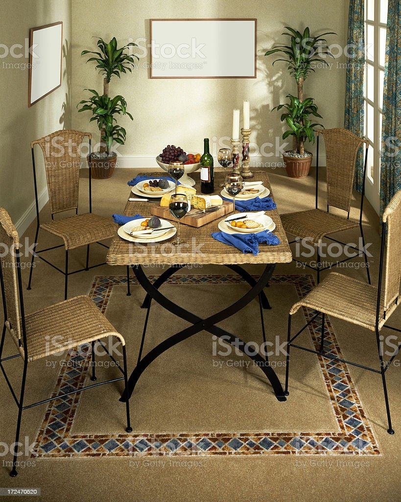 Dining area in a modern home royalty-free stock photo