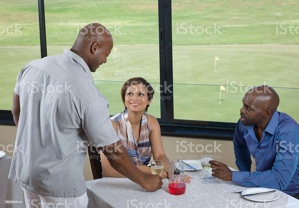Dining at a Country Club Near Cape Town, South Africa stock photo