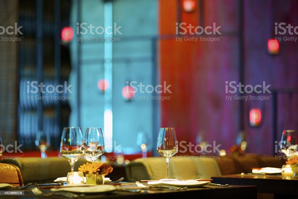 Dining at upscale restaurant royalty-free stock photo
