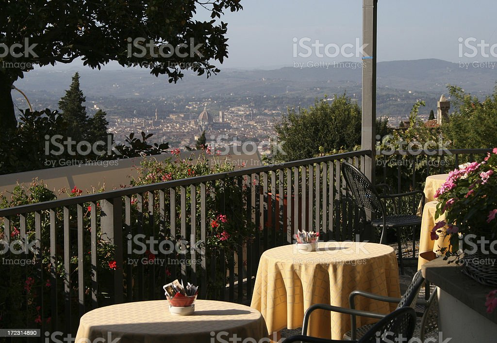 Dining in Tuscany stock photo