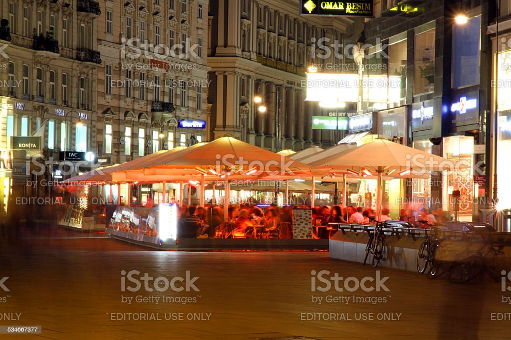 Dining in Vienna stock photo
