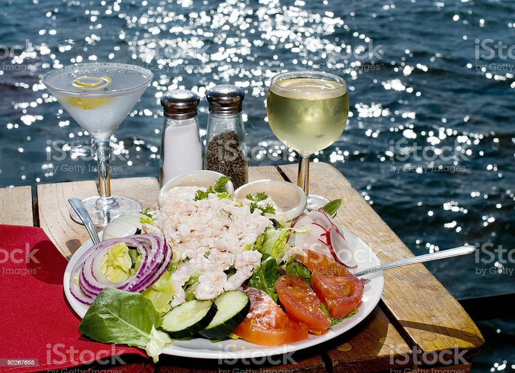 Dining on the Bay royalty-free stock photo